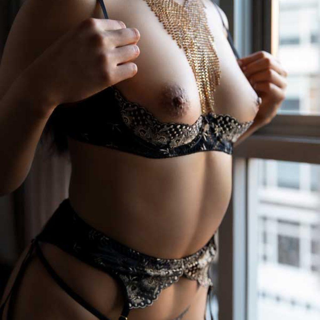 breast nipple lingerie window