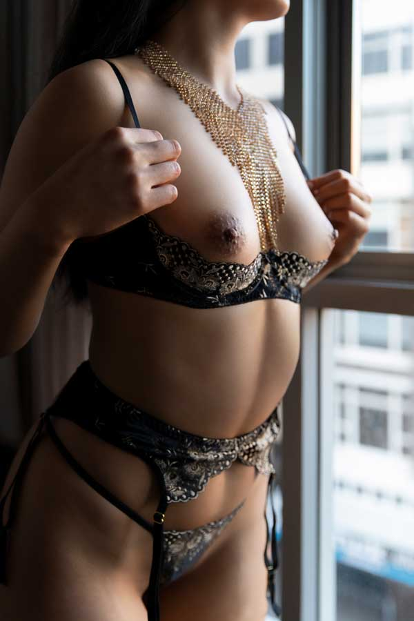 breast nipple lingerie window